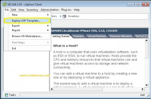 Deploy OVF template of Vcenter Appliance