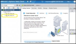 Login to VCenter Server using Vsphere Client