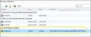 adding iscsi adapter in VMware ESXI