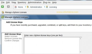 Managing the License Keys of VSphere