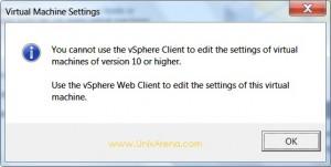Unable to edit virtual machine -VMware