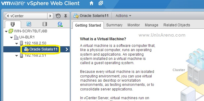 vmware reset machine