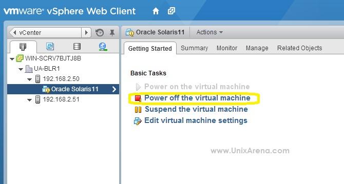 Unable to Power off Virtual Machine on ESXi 5 5 host - UnixArena