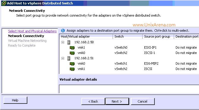 Adding Esxi host networking to VDS switch 16