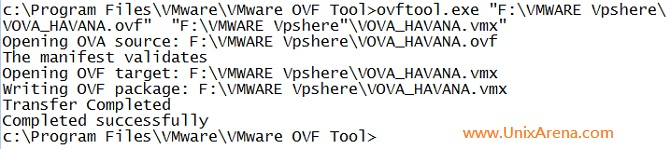 Conveting from OVF to VMX file