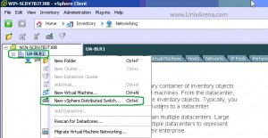 Create a new vSphere Distributed Switch