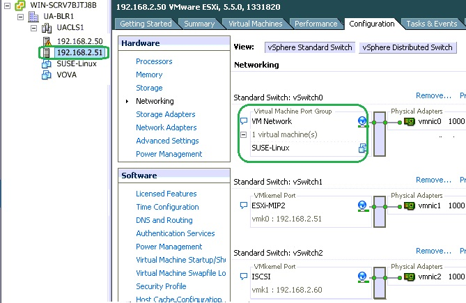 Host Networking view - SUSE-Linux