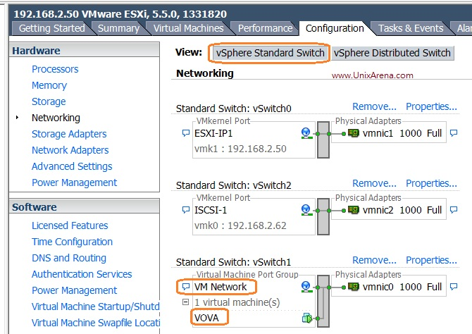 VMware - How to Migrate VM's from DVswitch to vSwitch