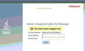 ILOM Web login page