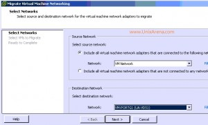 Select Source and Destination network