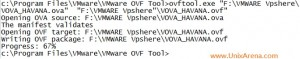 OVA to OVF failed Example