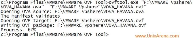 OVA to OVF failed Example