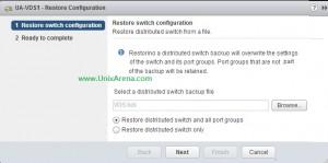 Select the VDS backup file