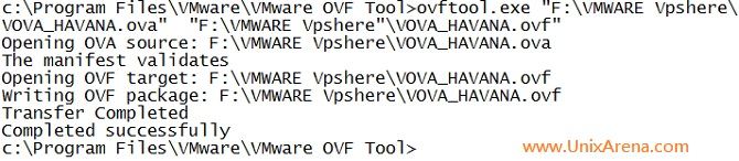 Successfull Extraction of OVA file