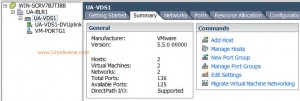 VMware - Networking  Tab