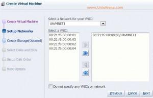 Assigning the virtual NICS