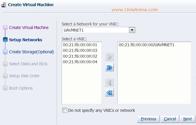 Assigning the virtual NICS