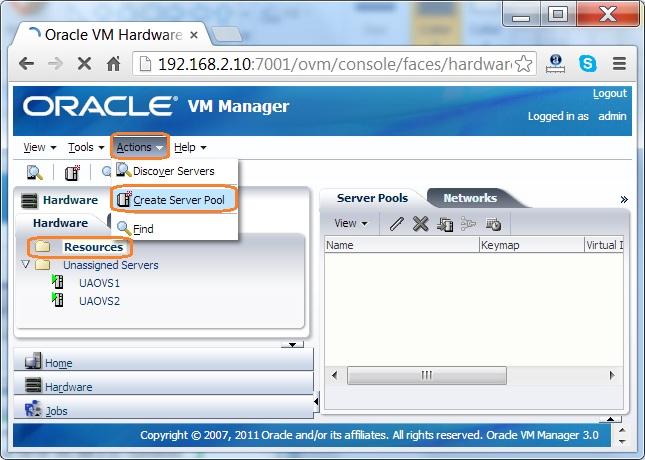 How to Create a server pool on oracle VM? - UnixArena