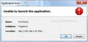 Failed to connect VNC viewer