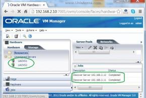 OVS Servers added to OVM