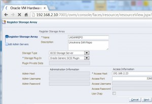 Registering new ISCSI array