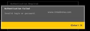 VMware Esxi root login failed.