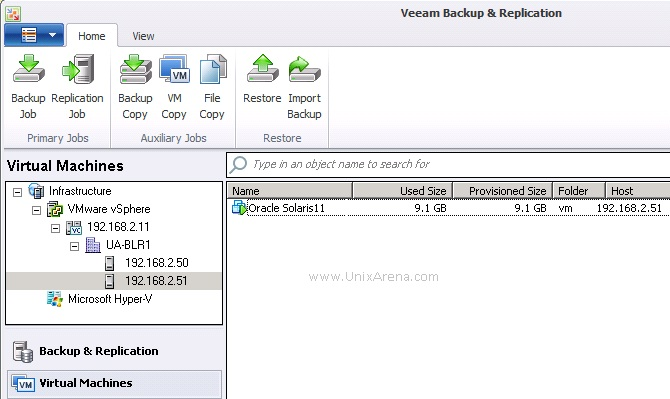 Veeam - How to backup and restore Solaris/Linux guests using