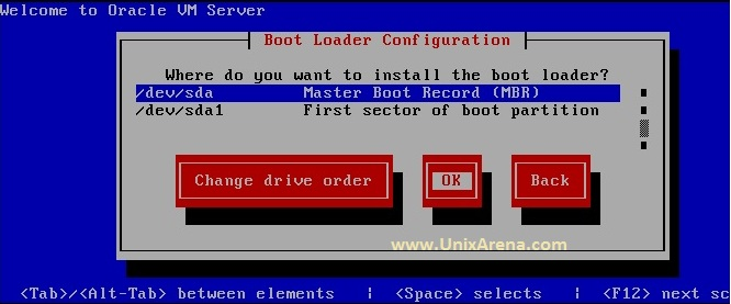 Boot order of the OVS