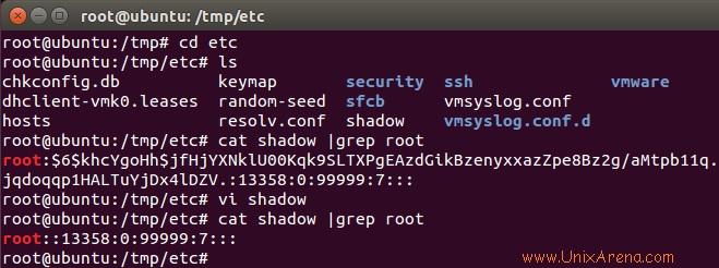 clear the root password of VMware ESXi