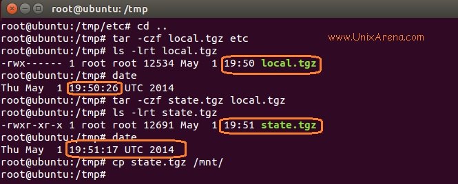 copy the updated tgz file to ESXi root FS