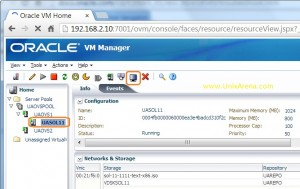 oracle VM Guest console