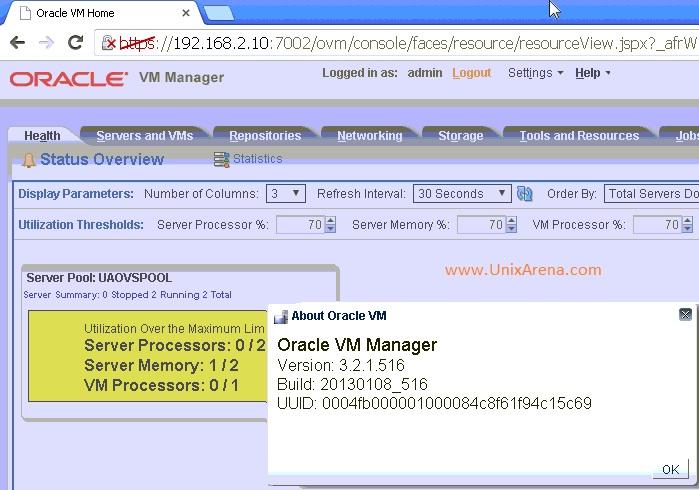 OVM 3.2.1 Version check