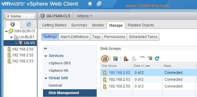 Claim Disks for VSAN