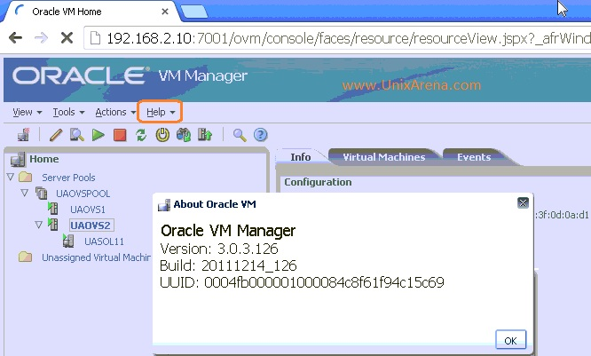 Oracle VM manager current version