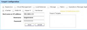 Enter vSphere vCenter Details
