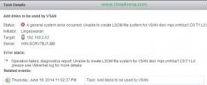 LSOM error on VSAN
