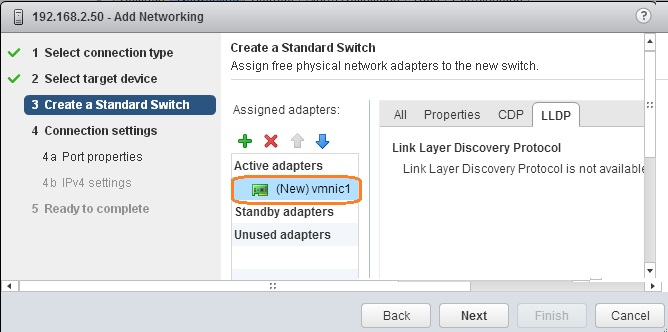 Click Next to continue - VSAN Networking wizard