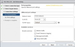 Select the VSAN traffic