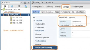 No license keys assigned to VSAn