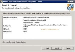 Veeam MP for VMware installation