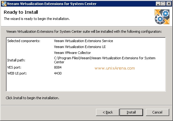 Veeam MP for VMware installation