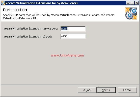Veeam MP for VMware - Ports