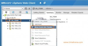 Move hosts in to VSAN cluster