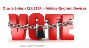 Solaris cluster voting