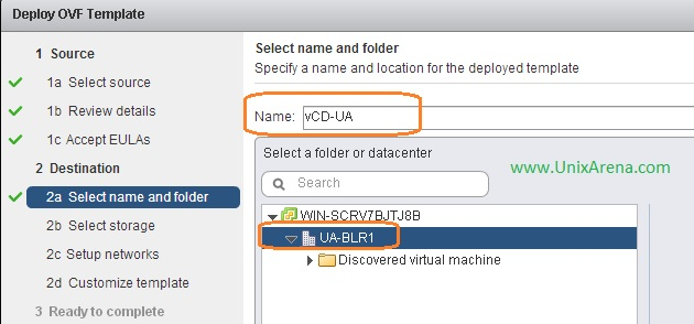 Enter the VM name and Select DC location