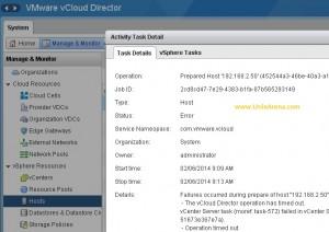 Error host cannot prepare vcloud director 1