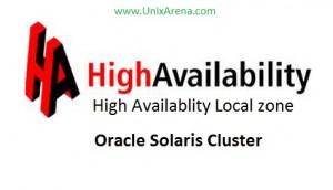 HA-Local zone - Solaris cluster