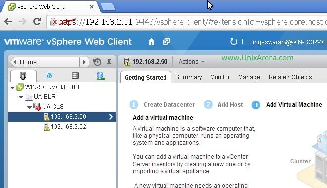 Login to vSphere Client