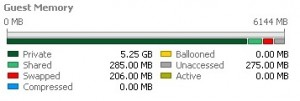 VM's Memory usage