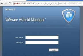 vShield Manager web-login page